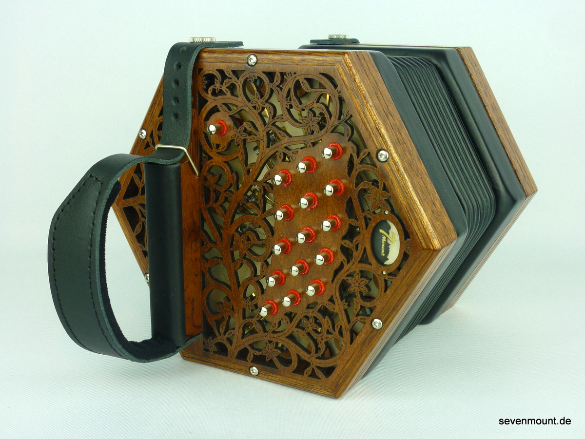 Mahogany with Floral Fretwork